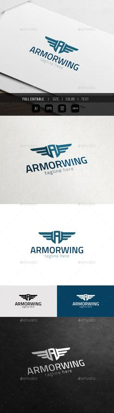 Armor Wing Army Badge Game A - Logo Design Template Vector #logotype Download it here: http://graphicriver.net/item/armor-wing-army-badge-game-a-logo/11372987?s_rank=1755?ref=nexion