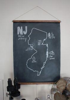 Chalkboard (Any) State Map. $45.00, via Etsy.