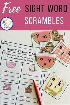 Practice sight words with this FREE sight word center activity.
