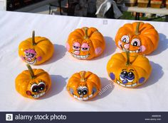 Painted Pumpkin Faces Stock Photos & Painted Pumpkin Faces Stock ...
