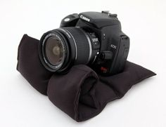 Pocket Pod Fully Adjustable Camera Support System- Camera Bean bag.  Maybe try to make one instead of paying over $5 in shipping.