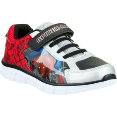 Join your friendly neighbourhood Spider-Man in action with the Spider-Man Kids Runner. This trendy pair is a great addition to any footwear collection. Perfect for casual wear, these joggers feature laces and a hook and loop closure and themed and metallic paneling for additional style | Big W Aus