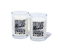 Stussy Livin' General Store Perfumed Candle-Eucalyptus / Perfumed Candle-Cedar.  #stussy #generalstore #candles