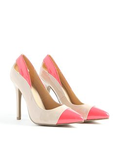 Jonetina Cut Out Contrast Court Shoes - love these!