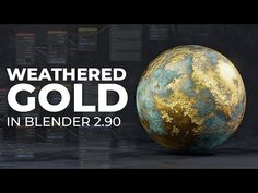 Easy Weathered Gold in Blender 2.90 (Blender Tutorial) - YouTube Free 3d Modeling Software, Modeling Tips, Blender Models, Blender 3d, Blender Tutorial, 3d Tutorial, Texture, Tutorials, Easy
