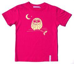 Kleine Nachteule für kleine Nachtschwärmerinnen. Fair gehandeltes T-Shirt aus 100 % Bio-Baumwolle. Gelber Druck auf Pink. Pink, Mens Tops, Fashion, Night Owl, Cotton, Moda, Fashion Styles, Pink Hair, Fashion Illustrations