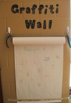 Writing wall in the classroom Definitely doing this! ♥