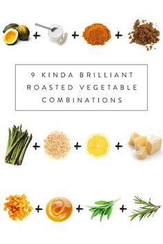 9 Kinda Brilliant Roasted Vegetable Combinations via @PureWow