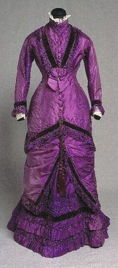 For the purple silk?  With a rounder neckline and a dickie to convert from day to evening?