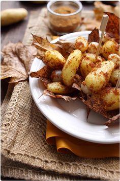 Pommes de terre rôties au pain d'épice