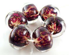 Parallel Universe Encased Artisan Lampwork Beads by lampworkbyamy, $24.00