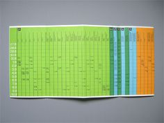 Munich 1972 Olympics Event Schedule - Otl Aicher