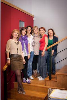 Algunas de las integrantes del Dpto. de Inglés
