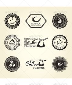 Coffee Labels - Backgrounds Decorative