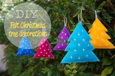 DIY Felt Christmas Tree : DIY Felt christmas tree decorations