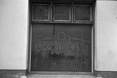 Stoke: The Bert Bentley Collection on Stoke Sentinel. Window of the Old Locomotive Inn, City Road near Canal Bridge