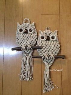 Owl macrame (entire board https://www.pinterest.com/jillhasalife/macrame/)