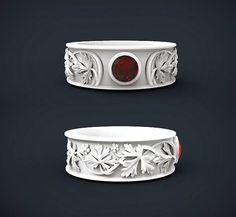 cad rendering ring band custom jewelry gem stone diamond