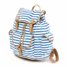 Striped Seahorse Backpack getting it love it so cute claires.com striped seahorse back pack  <3 <3 <3 <3 it <3 <3 3