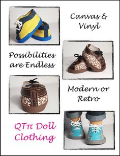 """Retro Sneakers 18"""" Doll Shoes"""
