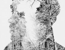Winter Edition – Multiple Exposure Portraits by Christoffer Relander, via Behance Double Exposure Photography, Old Photography, Artistic Photography, Digital Photography, Inspiring Photography, Erik Johansson, Close Up Faces, Instagram Background, Multiple Exposure