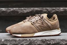 New Balance 247 Tan leather new lifestyle shoes Jogging Shoes 65bedb774