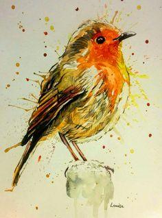 Christmas Robin Watercolor Bird, Watercolor Paintings, Watercolours, Bird Drawings, Animal Drawings, Robin Drawing, Watercolor Christmas Cards, Christmas Art, Animal Paintings