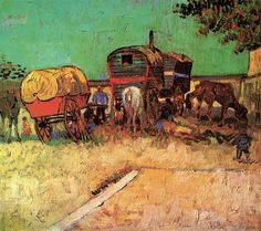 Vincent van Gogh. Encampment of Gypsies with Caravans | Flickr - Photo Sharing!