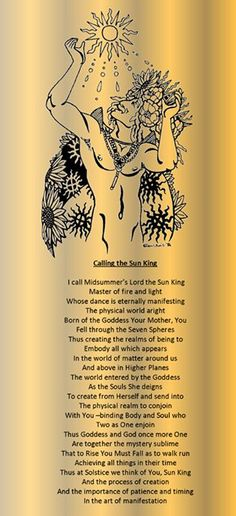 Calling the sun king - Midsummer - Summer Solstice - Litha - Pagan Holiday - Pinned by The Mystic's Emporium on Etsy Wicca Witchcraft, Wiccan, Magick, Hoodoo Spells, Green Witchcraft, Summer Solstice Ritual, Winter Solstice, Samhain, Pagan Beliefs