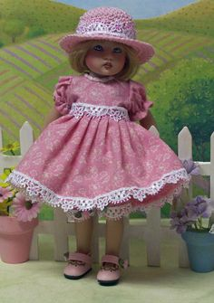 """Handmade outfit for 7.5"""" Riley Kish doll by jdldollclothes.com."""