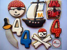 Pirate Cookies Cookieria By Margaret, biscoito decorado, bolacha decorada