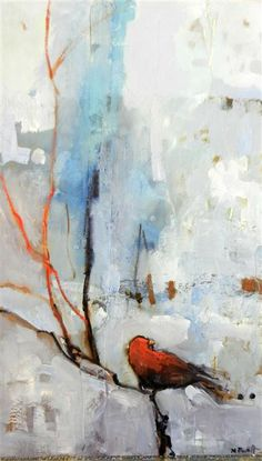 """Original+art+for+sale+at+UGallery.com+ +Red+Bird+by+Mary+Pratt+ +$1,450+ +oil+painting+ +42.5""""+h+x+25""""+w+ +http://www.ugallery.com/oil-painting-red-bird-26601"""