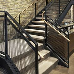 images of contemporary wire mesh stair railings - Google Search