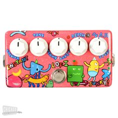 Zvex Zvex Instant Lo-Fi Junky Custom Hand Painted Shape People on Pink Sparkle