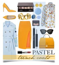 """""""Pretty Pastel Trench Coats"""" by ittie-kittie ❤ liked on Polyvore featuring VIVETTA, Altuzarra, Orciani, Florian London, Christian Dior, By Terry, NARS Cosmetics, Kastur Jewels, Chanel and Bobbi Brown Cosmetics"""