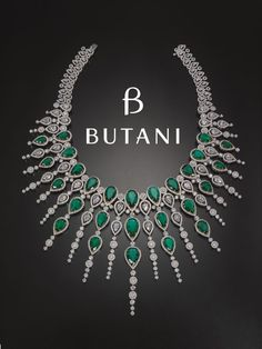 A treasure to behold from the vault dripping in diamonds and deep green emeralds. Butani Jewellery (=)