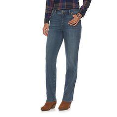 Women's Chaps Curvy Fit Straight-Leg Jeans, Size: 16, Blue