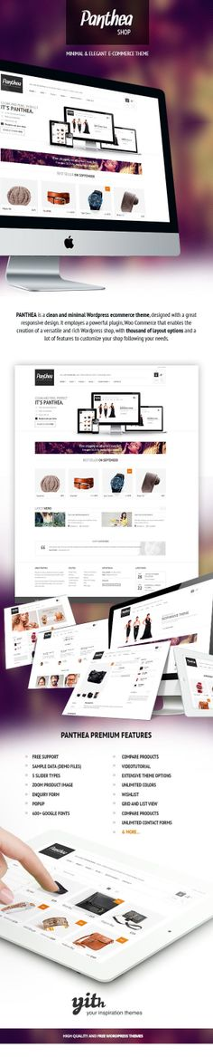 Panthea – Minimal Woocommerce theme by Your Inspiration , via Behance