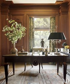 Home office featured in Architectural Digest.