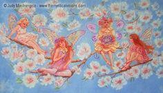 Four Fairies on a Branch