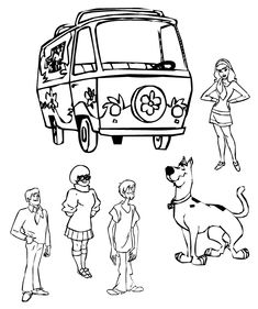 scooby doo gang coloring pages - another of the scooby gang party ideas and decor