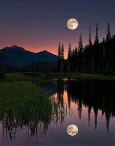 Reflection of the full moon  #MashaAllah #SubhanAllah #moon #fullmoon