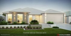 House front ideas australia dream homes 36 trendy ideas Modern House Plans, Modern House Design, Exterior Colors, Exterior Design, Exterior Homes, Style At Home, Story House, Story Story, Facade House