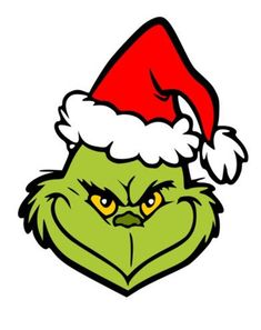 Santa Grinch Face - SVG Layered File use on Cricut, Cameo or Silhouette Grinch Christmas Decorations, Grinch Christmas Party, Grinch Ornaments, Grinch Party, Christmas Rock, Christmas Svg, Christmas Projects, Xmas, Le Grinch