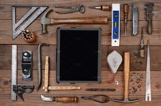 Tools and Tablet Computer by Steve Cukrov Photography on @creativemarket
