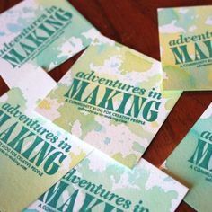 Who says you can't get creative with your business cards? Try this DIY watercolor idea!