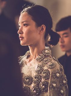 A glimpse of Chinese model Du Juan on the red carpet before the event in celebration of our Kerry Centre flagship