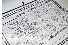 Peer Evaluation - Writer's Workshop.  This post has lots of ideas for writer's workshop
