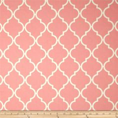 Moda Quattro Quatrefoil Grande Pink from @fabricdotcom  Designed by Studio M for Moda, this cotton print is perfect for quilting, apparel and home decor accents.  Colors include white and pink.