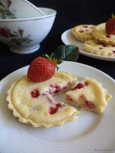 RECELANDIA: Tartaletas de queso, leche condensada y fresas Me gusta la base
